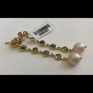 Genuine Peridot & Pearl Earrings